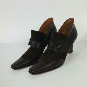Salvatore Ferragamo heels ankle boots brown
